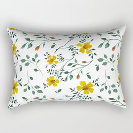 Little yellow flowers Rectangular Pillow