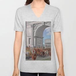 Classical Masterpiece: Roman Legion in Triumphal Procession by Herbert Herget Unisex V-Neck