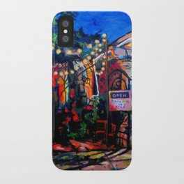 Nighttime Cafe iPhone Case
