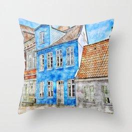 Dreaming of Denmark Throw Pillow