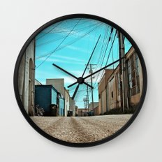 Alley architecture Wall Clock