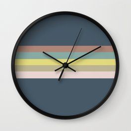 colored stripes Wall Clock
