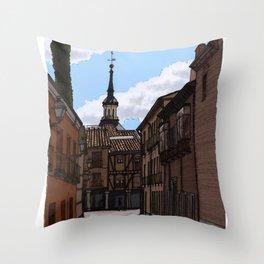 Alcalá streets Throw Pillow