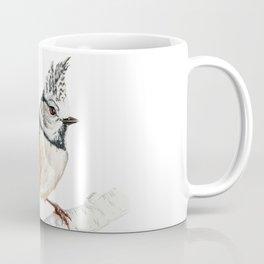 European crested tit, Lophophanes cristatus Coffee Mug