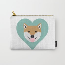 Shiba Love - Heart shiba inu funny dog for dog lovers pet gifts customizable dog meme dog person Carry-All Pouch
