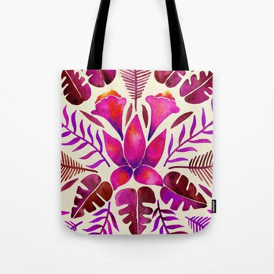 Tropical Symmetry – Magenta Tote Bag