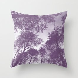 Forest view - lilac Throw Pillow
