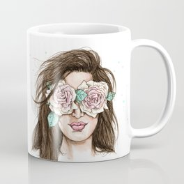 white roses in their eyes (female version) Coffee Mug