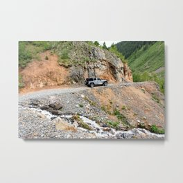 "Gold Rush Wagon Road from the Silver Crown Mine to ""Chattanooga Loop"" Metal Print"