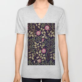 William Morris Sweet Briar Floral Art Nouveau Unisex V-Neck
