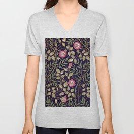 William Morris Sweet Briar Floral Art Nouveau Unisex V-Neck