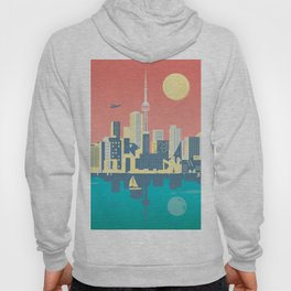 Toronto City Skyline Art Illustration - Cindy Rose Studio Hoody