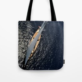big sailing yacht Tote Bag
