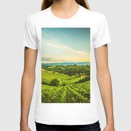 Vineyards landscape panorama. South Styria, Austria T-shirt