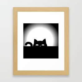 Peeking Cat Framed Art Print