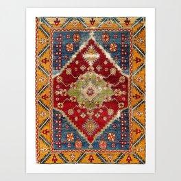 Çal Southwest Anatolian Rug Print Art Print