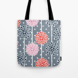 Blossom pattern with dots Tote Bag