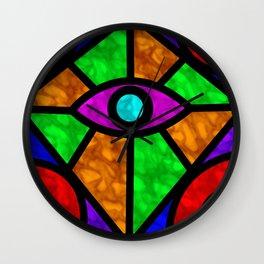 Illuminati Abstract Wall Clock