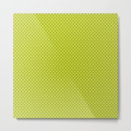 Pear Green Scales Pattern Metal Print