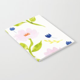 Pink Floral Watercolor Pattern Notebook