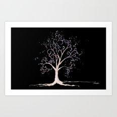 Dark elven tree Art Print