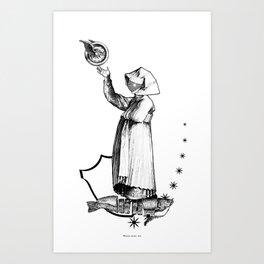 A propos du chant prophetique de la Sibylle. Art Print