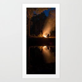 Doggo an Campfires Art Print