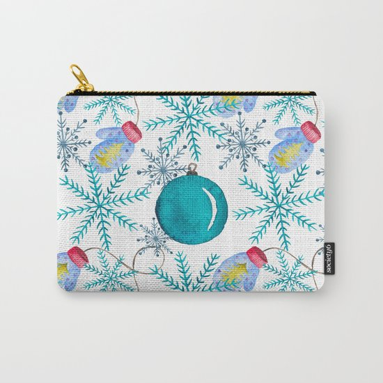 Blue Snowflakes #3 Carry-All Pouch