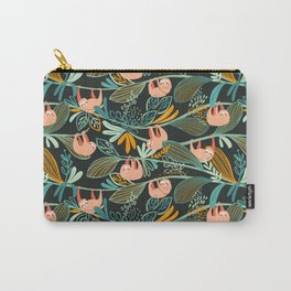 Jungle Sloths Dark Carry-All Pouch