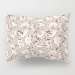 Happy Leaping Pugs in brown! Pillow Sham