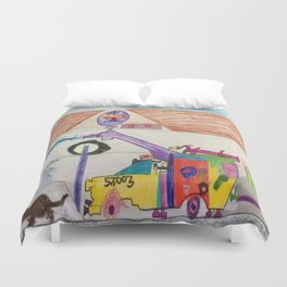 Fire Hall Practice  Duvet Cover