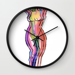 The Illusion of the Female Form Wall Clock