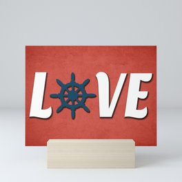 Love nautical design Mini Art Print