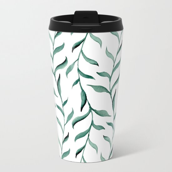 Blue branches. Metal Travel Mug