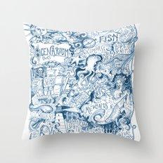 Ocenarium Throw Pillow