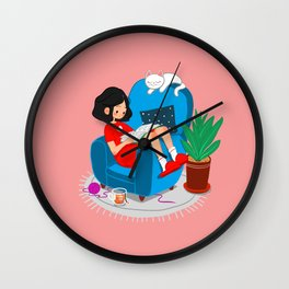 STAY HOME Wall Clock