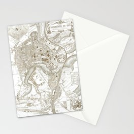 Vintage Luxembourg City Map (1907) Stationery Cards