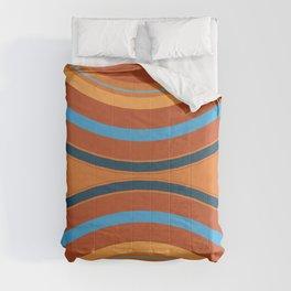 Retro Double Rainbow Comforters