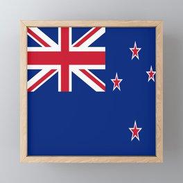 Flag of new zealand 3 -zealand,New Zealander,Kiwi,wellington,Auckland. Framed Mini Art Print