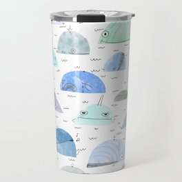Whale party Travel Mug