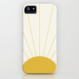 Sunrise / Sunset Minimalism iPhone Case