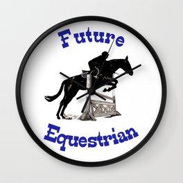 Cute Future Equestrian Horse Wall Clock