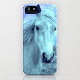 Blue Horse Celestial Dreams iPhone Case