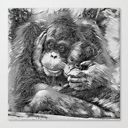AnimalArtBW_OrangUtan_20170603_by_JAMColors-Special Canvas Print