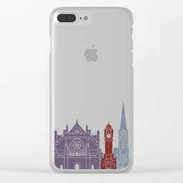 Exeter skyline poster Clear iPhone Case