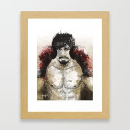 Manny Pacquiao - Bloody Gloves Framed Art Print