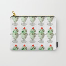 Pistachio Ice Cream Pattern Carry-All Pouch