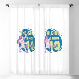 Dabbing Einhorn This Girl Is Now 10 Geschenk zum 10. Geburtstag Blackout Curtain