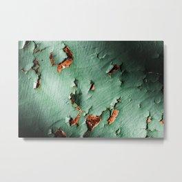 Cool turquoise brown rusty metal Metal Print