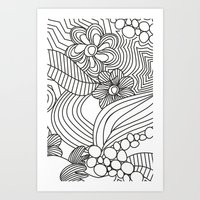 sketch Art Prints featuring sketch by Natasha79